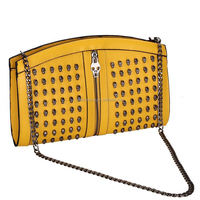 Yellow antique style christmas gift bag handbag handbag