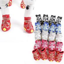4pcs/set Hot Sale Waterproof Anti-slip Winter Snow Pet Boots Dog Shoes