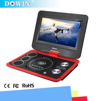 factory wholesale price quality usb Made in China cheap 10.1 inch folding TV portable dvd player with TV/GAME/FM/USB/SD reader