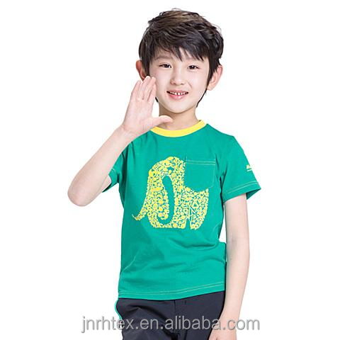 Breathable and soft custom children combed organic cotton for Soft custom t shirts