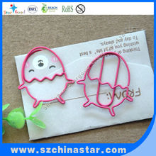 Colorful variety shaped paper clip stationery metal clip