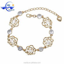 Factory price gold plating beautiful friendship bracelet wholesale for women