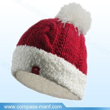 New Winter Warm Women Knitted Wool Ski Beanie Ball Hat