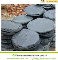 black slate round paver slate outdoor paving tile