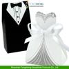 DRESS TUXEDO BRIDE GROOM WEDDING FAVOR BOXES RIBBON CANDY BOMBONIERE