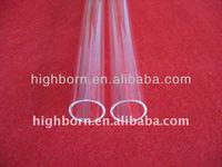 Clear Silica Quartz Tube for lab ware