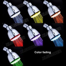 XLSHOWER Cixi factory direct Chromed wall mounted LED shower head led color change