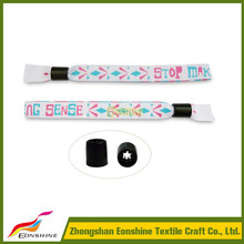 create your own brand festival woven wristband