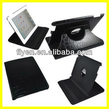 Black Alligator Design 360 Support Rotating for iPad 2 3 4 Case Leather Material Wth Sleep Wake UP Function And Magnetic New
