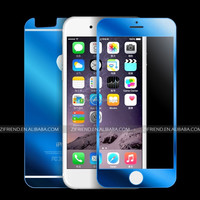 9H Electroplating Mirror Effect Tempered Glass Screen Protector For iphone 6 New