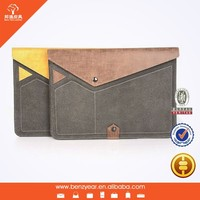 """Genuine Leather and Microfiber combination 9"""" to 10"""" tablet sleeve case fit for ipad air"""