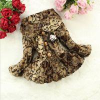 HFR-T981 Winter 2014 Leopard pattern imitation fur coat fashion suit jacket for girls