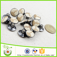 Natural coconut press metal snap button for jeans
