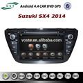 androide 4.4 audio del coche del coche del sistema de radio dvd con la navegación gps para suzuki sx4 2014