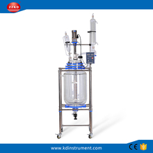 Pilot Scale lab double layer jacketed glass reactor vessel