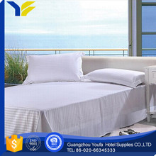 bleached new style twin white cotton bed sheets for hotelhospital