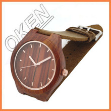 Trend Style wood Watch watches leather band Men