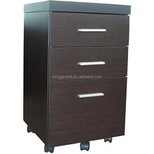 Hot Sale Laminate Chest MDF Three Drawer File Cabinet Studying Room Cappuccino Color Cabinet