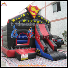 Factory price inflatable superman combo games,bounce house combo,bouncy jumping castle combo with slide