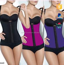 low cost plus size waist trainer underwear for women steel boned latex waist trainer