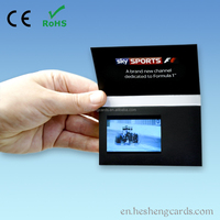 High quality 2.4 inch LCD card lcd video brochure card business card with lcd