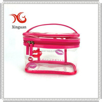 manufacture recyclable cosmetic zipper EVA clear bag