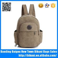 Specially designed leisure canvas small chest bag cross strap backpack