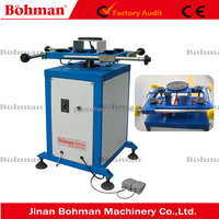 Rotated sealant spreading table / double glazing glass making machine