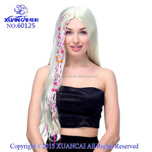 2015 New Arrival Wholesale cheap synthetic hair Blonde Hippie Wig halloween wigs