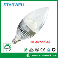 Most popular stylish led candle lights e12 5w