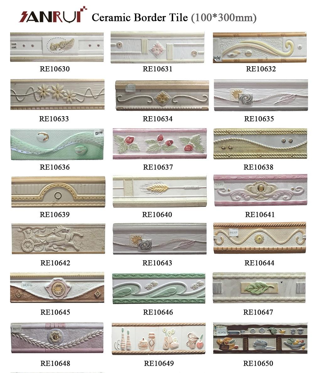 Bathroom Design Interior Decoration Border Tiles Resin Borders Tile ...