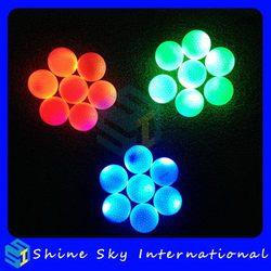 Fashionable Unique Golf Balls With Flashing Light