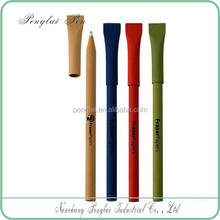 2015 ecological promotation colorful recycled paper pen