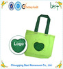 customized heart foldable polyester promotional bag/polyester tote bag
