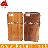 Handmade natural bamboo wood phone case for iphone 4 4s