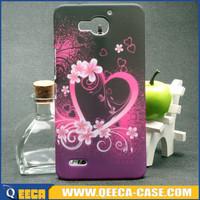 Custom design water transfer printing plastic phone back case for huawei g750