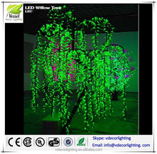 china supplier led tree lights,garden decorative tree light, led weeping willow tree lighting