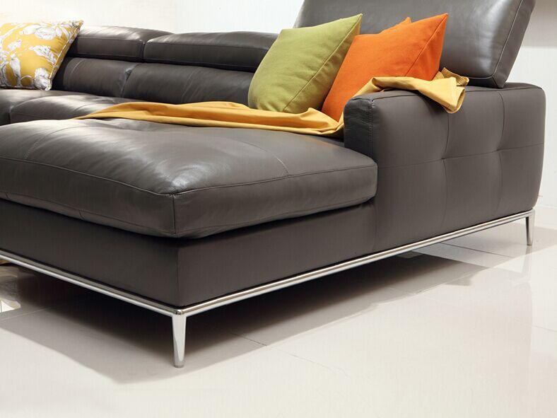 Moderne en cuir canap set pour salon meubles style cor en en cuir canap - Type de cuir pour canape ...