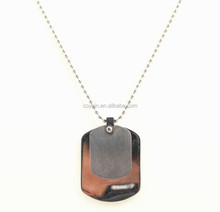 Stainless steel matte and high polish double pendant necklace engravable