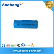 Cheap battery lithium ion 3.7v 800mah 18350 battery li ion rechargeable battery with CE,FCC,MSDS certification approved