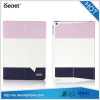 100% in stock tablet PU leather smart double case for iPad air 9.7inch