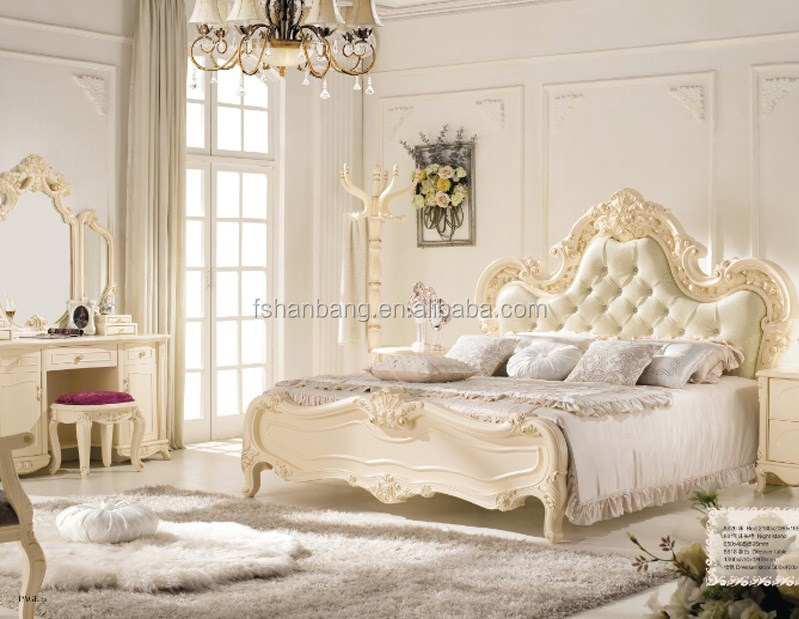 moderne europ enne fran ais baroque style ivoire blanc en. Black Bedroom Furniture Sets. Home Design Ideas