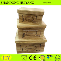 custom shabby chic wooden storage box with lid wholesale