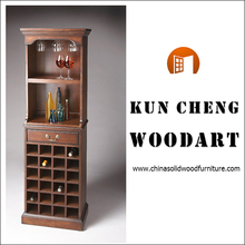 new style antique oak mahongany wine cabinet for living room furniture/solid wood wine rack
