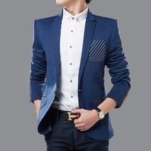 WT025 Fancy Blazer Men Jacket Wholesale Office Uniform Design Single Button Men's Slim Fit Blazer