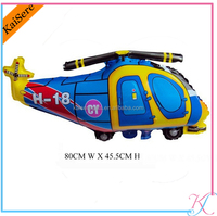 Advertising helicopter shape mylar balloons