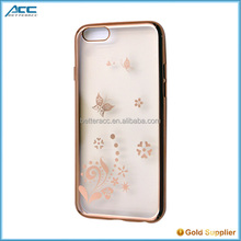 plating with laser pattern TPU phone case for iPhone 6