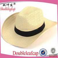 Best Selling Promotional Straw Cowboy Hats High Quality Cowboy Straw Hats