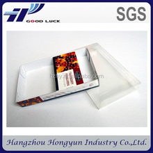 custom gold foil plastic box with liner/ clear corrugated plastic box, dates packaging box