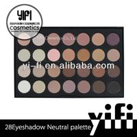 28 color eyeshadow palette warm high quality single baked eyeshadow